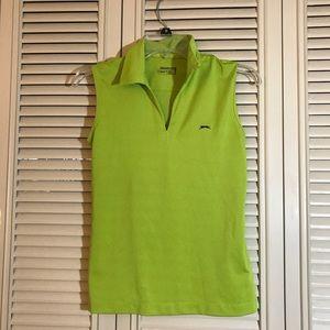 Lime Green Slazenger Golf Shirt